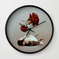 soul Wall Clocks featuring Soul by Bente Schlick