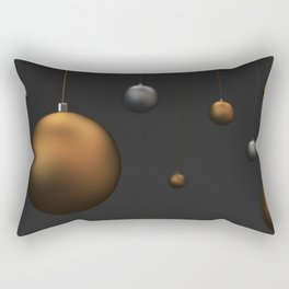 Set of gold and silver christmas balls Rectangular Pillow