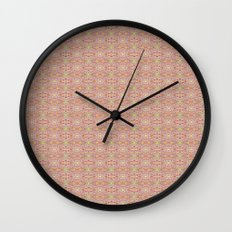 Red Burst Wall Clock