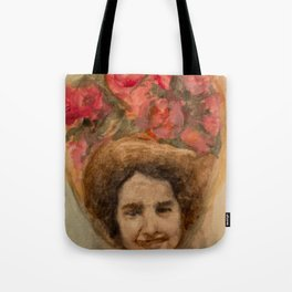 Watercolor Portrait of a Lady in an Easter Bonnet Tote Bag