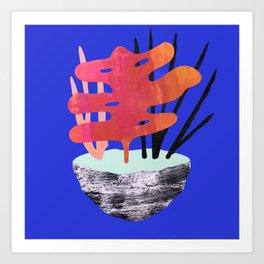 Ikebana Blue Art Print
