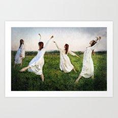 Rain Dances Art Print