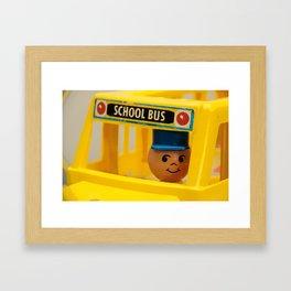 Fisher Price School Bus Framed Art Print