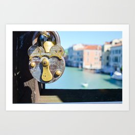 Venice Love Lock Art Print