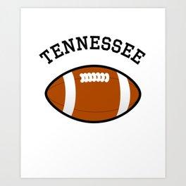 Tennessee American Football Design black lettering Art Print