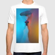 Rainbow Woman MEDIUM Mens Fitted Tee White