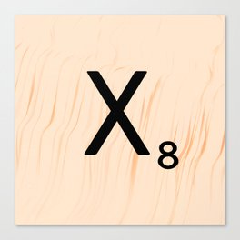 Scrabble Letter X - Scrabble Art and Apparel Canvas Print