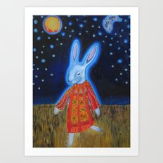 Joseph Bunny and his Dream Coat Art Print