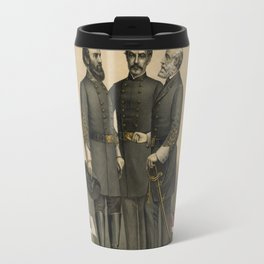 Four versions of the Flags of the Confederacy Travel Mug
