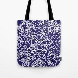 Isola Signature Print Navy Tote Bag