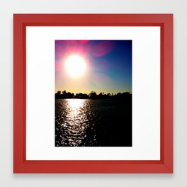 Sunrays Framed Art Print