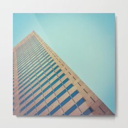 Diagonal Architecture Abstract Metal Print