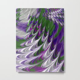 Purple and Green Abstract Metal Print