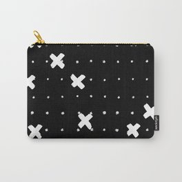 Cosine White on Black Carry-All Pouch