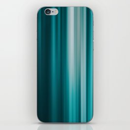 Abstract background blur motion vertical green iPhone Skin