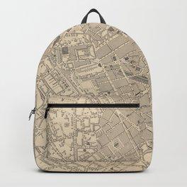 Vintage Map of Birmingham England (1851) Backpack