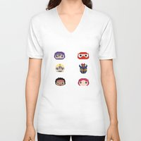 big hero 6 V-neck T-shirts featuring Big Hero 6 by Alison V.