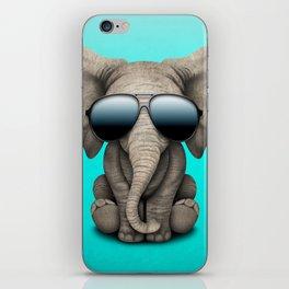 Cute Baby Elephant Wearing Sunglasses iPhone Skin