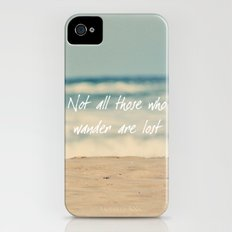 Not all those who wander are lost. Slim Case iPhone (4, 4s)