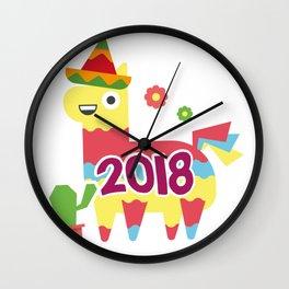 Cinco De Mayo 2018 Pinata Wall Clock