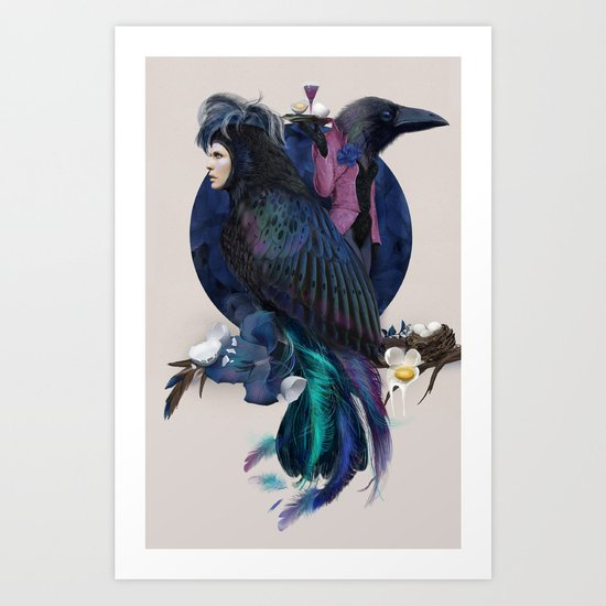 liquor for the birds Art Print