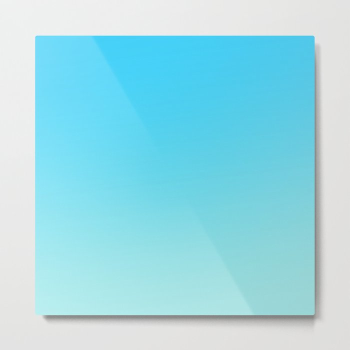Simply sea blue teal color gradient - Mix and Match with Simplicity of Life Metal Print