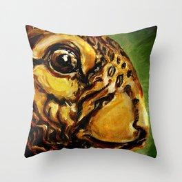 fat rabbit Throw Pillow