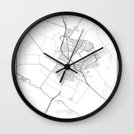 Minimal City Maps - Map Of Salinas, California, United States Wall Clock