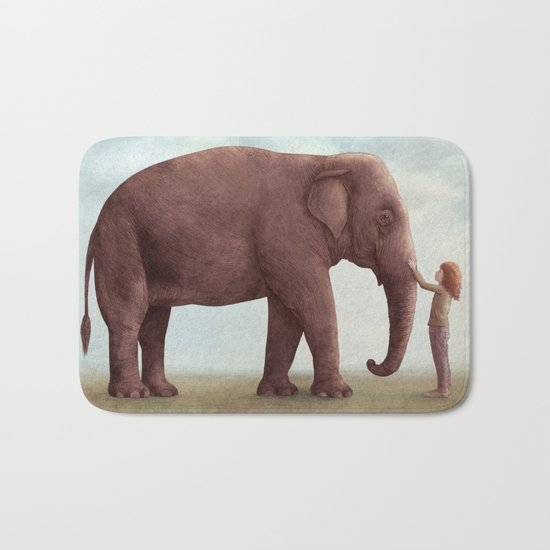 One Amazing Elephant - Back Cover Art Bath Mat