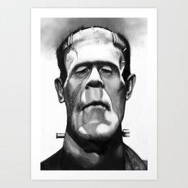Frankenstein Caricature Art Print