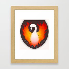SwanFire Family Crest Framed Art Print
