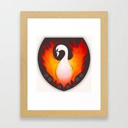 SwanFire Family Crest Framed Art Print