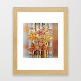 Fall Forest Framed Art Print