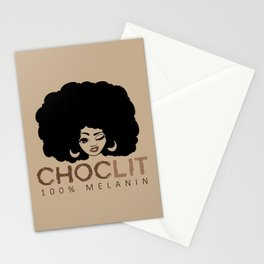 Choclit Black Woman Afro Stationery Cards