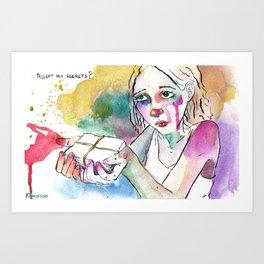 Accept my secrets? Art Print