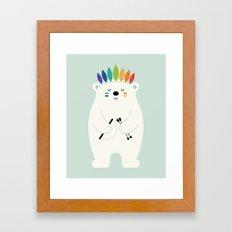 Be Brave Polar Framed Art Print