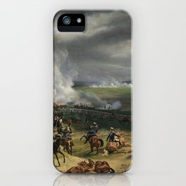 Classical Masterpiece: the Battle of Vernet Valmy by Emile Jean Horace iPhone Case