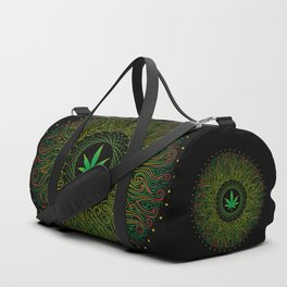 Magic plant. Marijuana leaf. mandala Duffle Bag