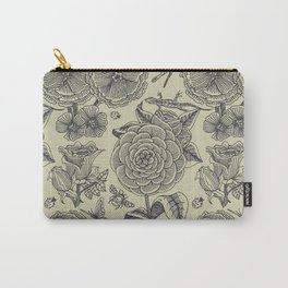 Garden Bliss - vintage floral illustrations  Carry-All Pouch