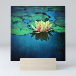 waterlily textures Mini Art Print