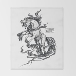 Mythological horse Sleipnir Throw Blanket