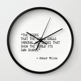 Oscar Wilde quote 2 Wall Clock