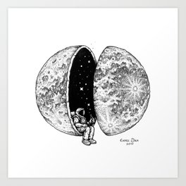 Chilling in Space Art Print