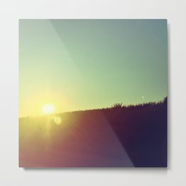 Iowa Sunset Metal Print