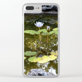 Lily Pad Circle Clear iPhone Case