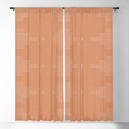 Southwestern Minimalist Terra Cotta  Blackout Curtain