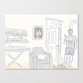 David at Home Canvas Print