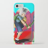 finn and jake iPhone & iPod Cases featuring Finn & Jake by Joshua M. Rhodes III