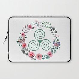 Floral Triskele Laptop Sleeve