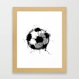 Grunge football ball Framed Art Print